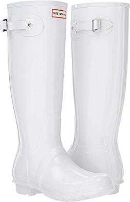 Hunter Women's Original Tall Gloss White 6 M US