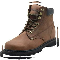 "EVER BOOTS ""Tank"" Men's Soft Toe Oil Full Grain Leather Insu"