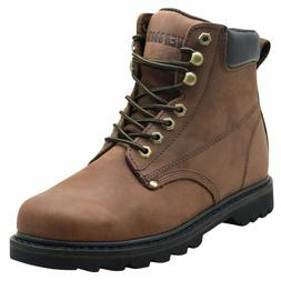 "EVER BOOTS ""Tank"" Men's Soft Toe Oil Full Grain Leather Insu"