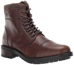 Steve Madden Men's Temper Ankle Boot, Brown Leather, 10.5 M