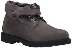 Timberland Men's Basic Single Roll-Top Boot, Grey Nubuck, 10