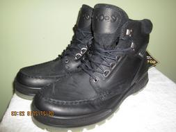 Ecco Track II  Men's Black Leather Gore-Tex Ankle Boots - EU