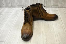 Steve Madden Men's Trentin Ankle Boot, Dark tan, 11 M US