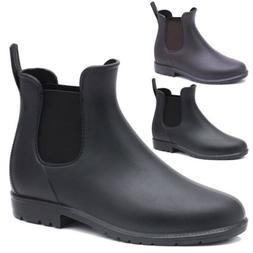 Unisex Rain Boots Womens Chelsea Casual Non Slip Elastic Men