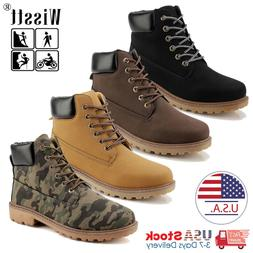 US Boots Men's Leather Boots Outdoor Waterproof Casual Lace