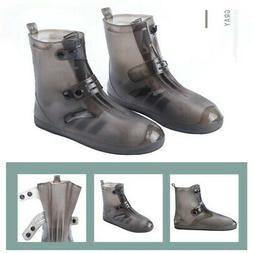 US Kids Men Women Rain Cover Shoes Waterproof Portable Rubbe
