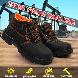 US Men's Safety Lightweight Work Shoes Steel Toe Boots Sneak