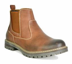 US Men's Work Boots Slip on Chelsea Shoes Lined Chelsea Plai