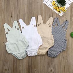 US Stock Newborn Baby Boy Girl Romper Bodysuit Sunsuit Summe