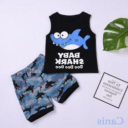 us summer toddler baby boy cloths shark