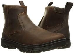 Skechers USA Men's Resment Korver Chukka Boot,Dark Brown,7 M