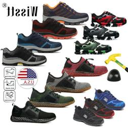 USA Men's Safety Shoes Steel Toe Work Boots Breathable Hikin