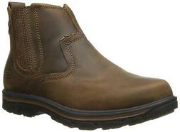 Skechers USA Men's Segment-Dorton Chukka Boot,Black Leather,