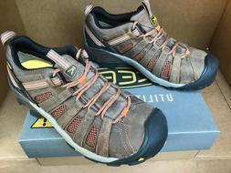 Men's KEEN Utility Flint Low Steel Toe Shoes, Shitake /
