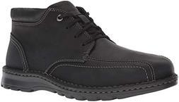 CLARKS Men's Vanek Mid Ankle Boot, Black Leather, 115 W US