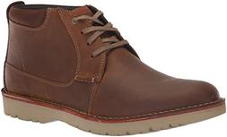 Clarks Men's Vargo Mid Boot, dark tan leather, 105 M US