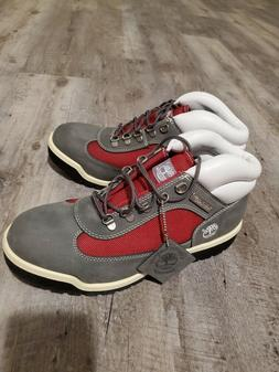 VERY COOL NEW TIMBERLAND BOOTS SIZE 9.5 MEN GREY RED WHITE