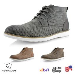 Men's Mid-Top Sneakers Desert Perforated Chukka Boots Casual