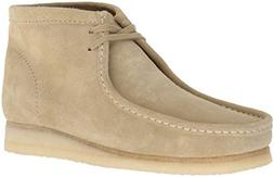 CLARKS Men's Wallabee Boot Fashion, Maple Suede, 120 M US