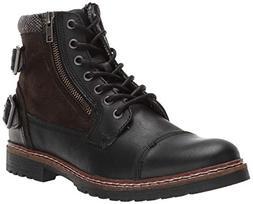 Steve Madden Men's WANTEDD Ankle Boot, Black Leather, 9 M US