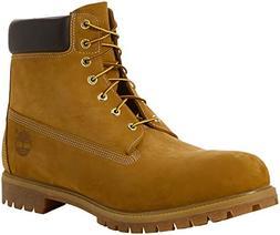 Timberland Men's 6 inch Premium Waterproof Boot,Wheat Nubuck