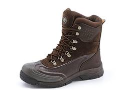 KINGSHOW Men's 1586-1 Waterproof Brown Cold Weather Boot 10.
