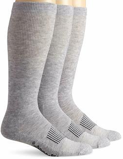 Wrangler Men's Western Boot Socks, Grey, Large  053146493830
