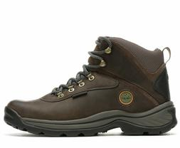 white ledge waterproof brown leather hiking boots