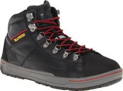 Caterpillar Men's Wide Brode Hi Steel Toe Work Boot,Black,11