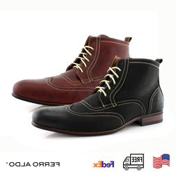 Ferro Aldo Wingtip Chukka Boots Men Casual Shoes With Decora