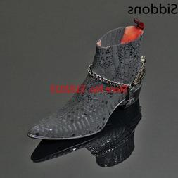 Winter Pointed Toe Matin Shoe High Ankle Lace Up <font><b>Bo