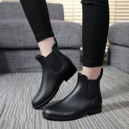 Mens Women Ankel Chelsea Boots Rain Boot Waterproof Slip On