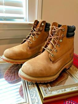 Timberland Women's Size 10M Wheat Nubuck Premium Boots, 6 in