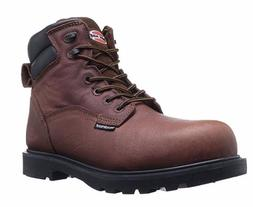 "Iron Age Work Boot Men's 6"" Hauler Brown 10M Industrial and"