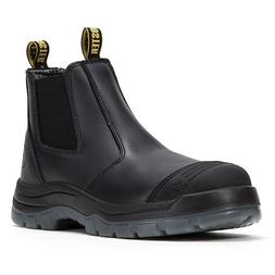 Work Boots for Men Steel Toe, Non-Slip Pull On Safety Shoes,