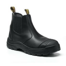 Work Boots Mens Chelsea Shoes Steel Toe Water Resistant Wate