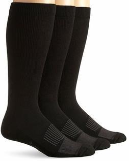 Wrangler Men's Western Boot Socks Pack of 3,Black,Sock Size: