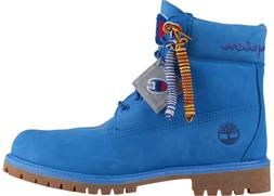 Timberland x Champion 6 Inch Luxe Premium Boots Surf Blue Me