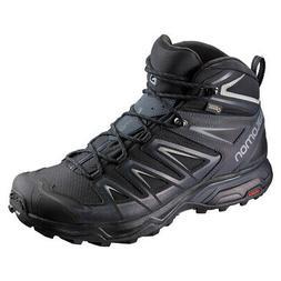Men/'s Salomon X Ultra 3 MID GTX Trail Hiking Boots Black